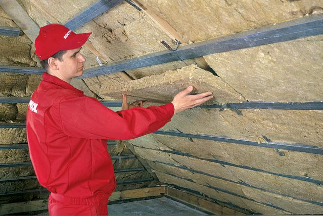 Утепление мансардных крыш изнутри Минватой