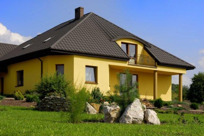 Четырехскатная (вальмовая) крыша мансарды